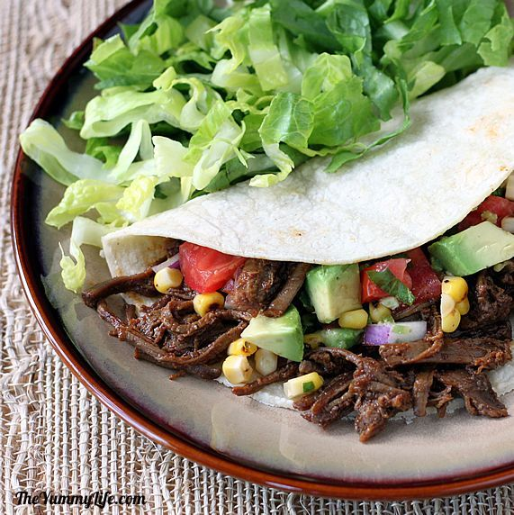 Ropa Vieja Shredded Beef. So tender it melts in your mouth. Use it for tacos, burritos, nachos, enchiladas and more. www.theyummylife.com/shredded_beef