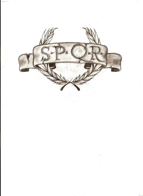 "SPQR Roman Legion tattoo, with ""Legio IX Britannia"" below it. Yes, I do realize the actual historical name of the Roman Legion that fought in Britiain was ""Legio IX Hispana"". However, I wanted to be creative about, and as a sign of respect to both sides who fought and died in Britian during that time period, to rename it to what the Romans called the island, ""Britannia""."