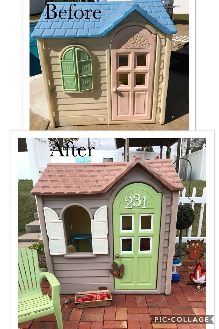 Little tikes  playhouse makeover !