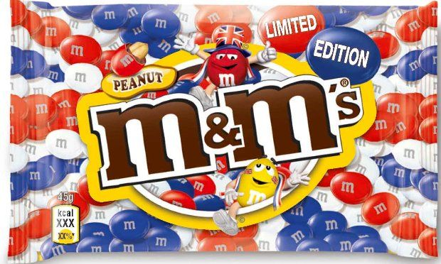 Union Jack M & Ms - Marketing opportunities galore this year - I am rather partial to a bit of chocolate though and peanut M & Ms are one of my favourites.
