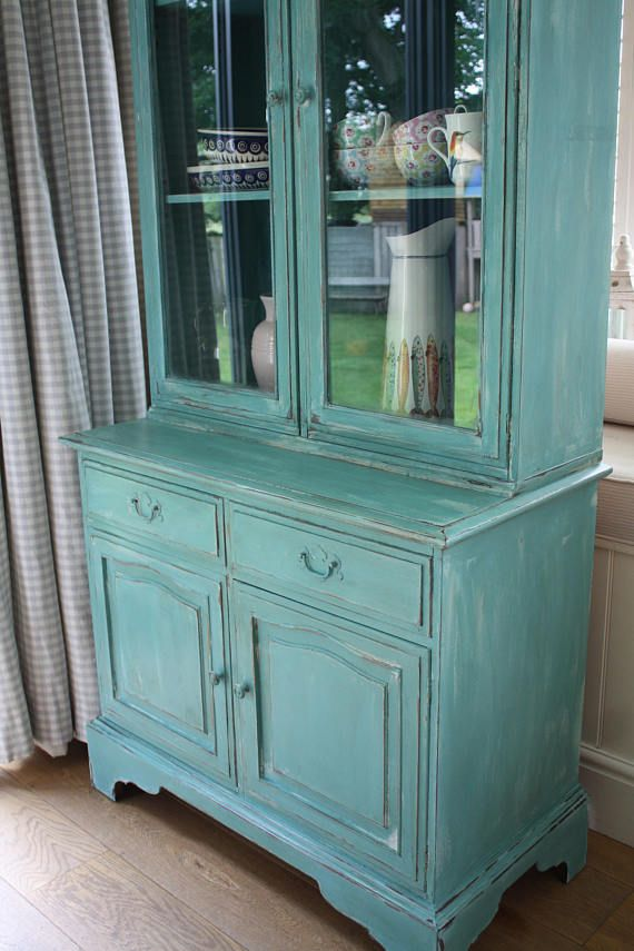 Unique Shabby Chic Stag Dresser / Bookcase hand painted in