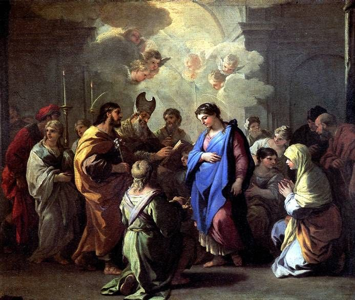 ДЖОРДАНО ЛУКА Обручение Марии с Иосифом Неаполь, 1634-1705 Холст, 116 х 136 см. Передана по завещанию доктора Луи Леказа в 1869 г.