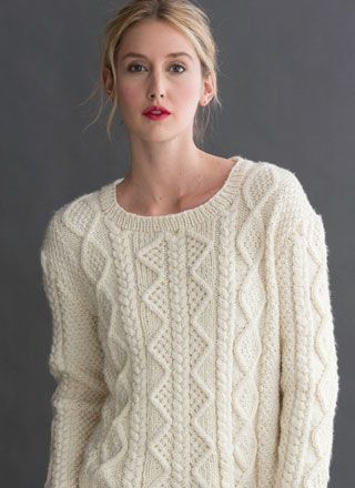 I have been looking for a good cabled sweater and I think this is it! #14 Cabled Pullover Vogue Knitting Early Fall 2015
