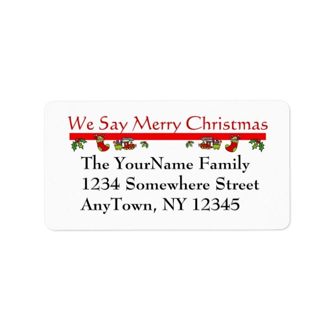 Best Christmas Address Labels Images On   Christmas
