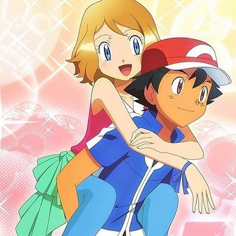 Art: Serena and Ash from Pokemon Artist: Unknown
