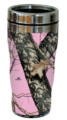 Tree-Free Pink Camo  Sip 'N Go Travel tumbler, 16-oz, Stainless Steel | #survivalforblondes #pink #camo