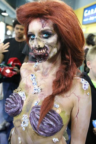 Zombie Ariel Comiconn 2014 Photo credit: Alex Syphers Model: She_loves_fx @juliasigns  #makeup #fxmakeup #halloween #zombie #disney #disneyprincess #princess #ariel #halloween #cosplay #costume