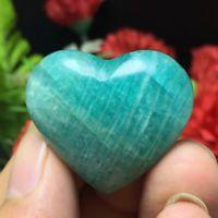 85ct NATURAL amazonite QUARTZ CRYSTAL Heart shape POINT healing t26