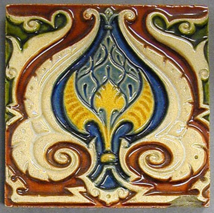 Craven Dunnill & Co. Majolica Glazed Tile