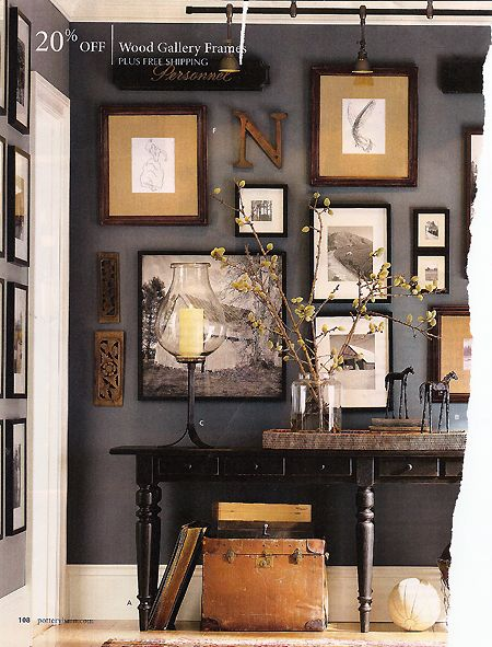 Perfect color scheme and placements.. great wall color