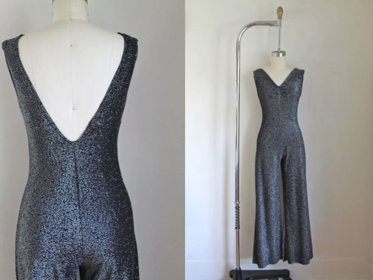 vintage 1970s lurex jumpsuit - APOLLO silver metallic playsuit / XS by MsTips on Etsy https://www.etsy.com/listing/479651474/vintage-1970s-lurex-jumpsuit-apollo