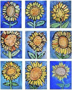 Van Gogh's Sunflowers: 1st grade paintings …