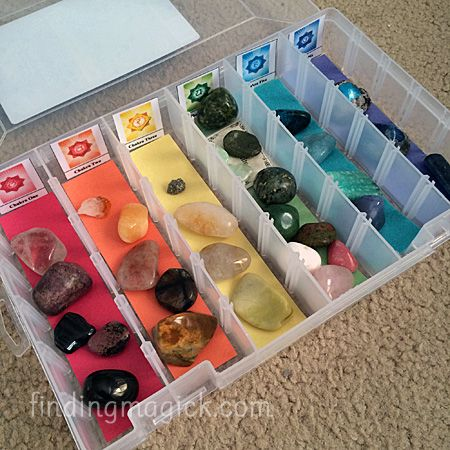 How to Organize Your Crystal Collection Using Plano Boxes - Finding Magick