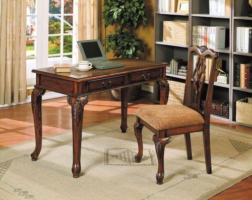 2 PC Acme Furniture Aristocrat Cherry Desk U0026 Chair Set 09650