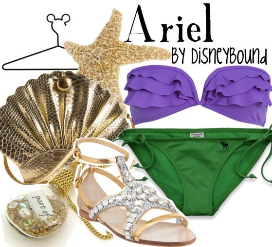 The Little Mermaid | Disney Bound-- Ariel (beachwear)    [this blog combines the world of Disney with the world of Fashion, click the picture to check it out!]