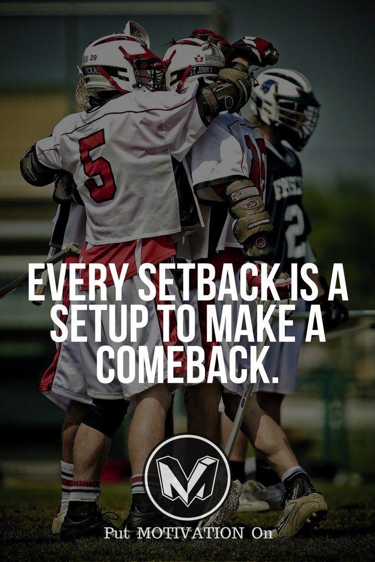 Setback is a setup for the comeback