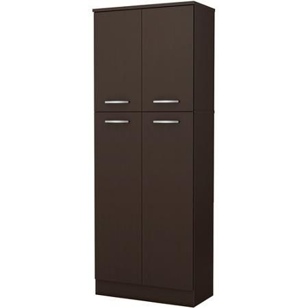 south shore smart basics 4 door storage pantry multiple colors storage free standing pantry. Black Bedroom Furniture Sets. Home Design Ideas