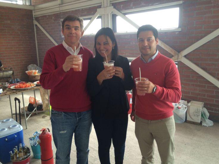 Cristián Cox  Rodrigo Sastre y Alejandra Espinosa. Celebración  fiestas patrias 2016.