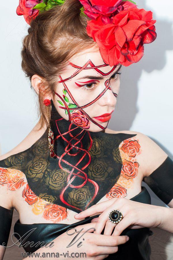 Creative makeup ROSES Ph: Anna Yadak Md: Tania Satanovska MuaH: Anna Vi