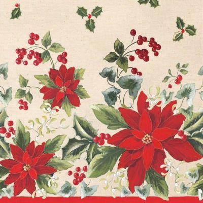 3827 Servilleta decorada Navidad