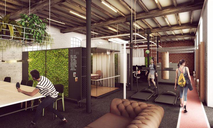 biura dla startupów w off piotrkowska #office #startup #smartoffice #letswalk #sport #oshi #greenwall #zielonaściana