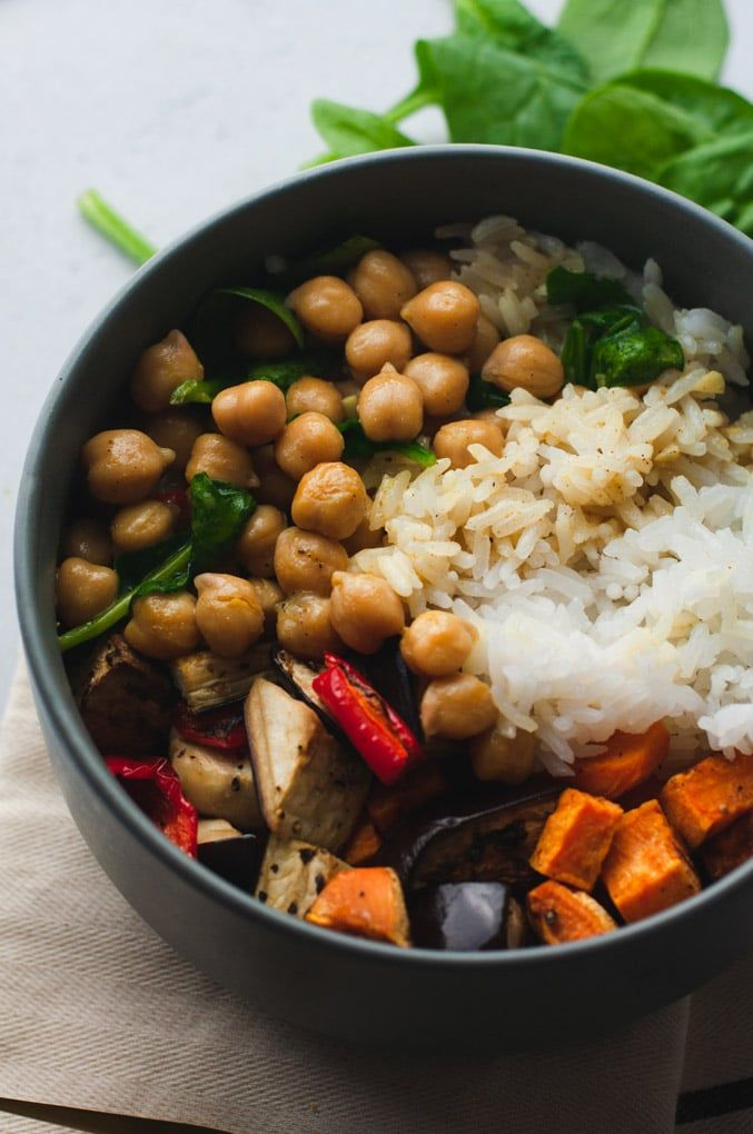 Coconut Curry Rice Bowls with Roasted Greens