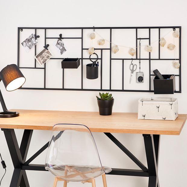 Modular Etagere Murale Noir H 150 X Larg 55 Cm Office Desk