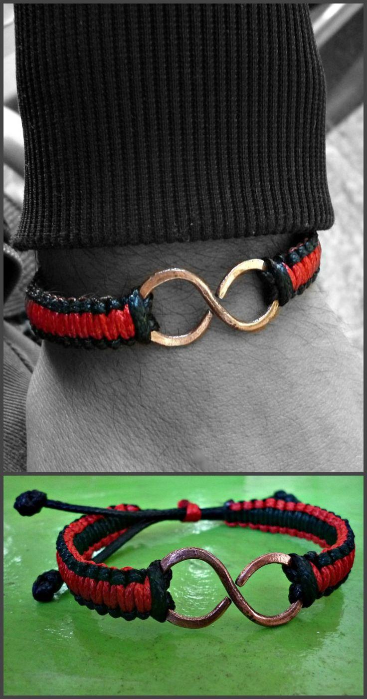 Pulseras de Cuero con Colgante de Yin Yang Trenzadas a Mano Cadena de cord/ón Color Negro Juego de 2 Pulseras de Piel para Hombre Oidea Ajustable aleaci/ón