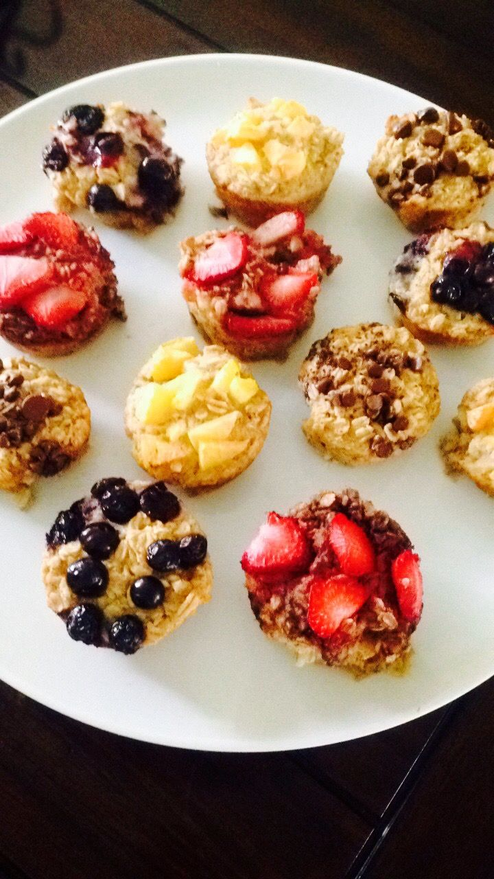 21 Day Fix Customizable Baked Oatmeal Cups