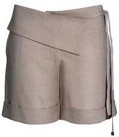 Short de linho.Shorts De, De Linho