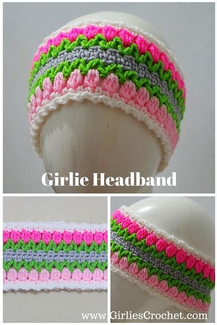 Girlie Headband:Here you can find an easy free crochet pattern headband for girls, a flower headband that could also be worn on winter time as ear warmer too.