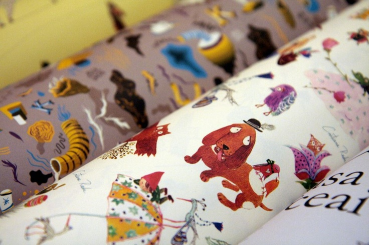 Cristiana Radu designs for gift wrap paper