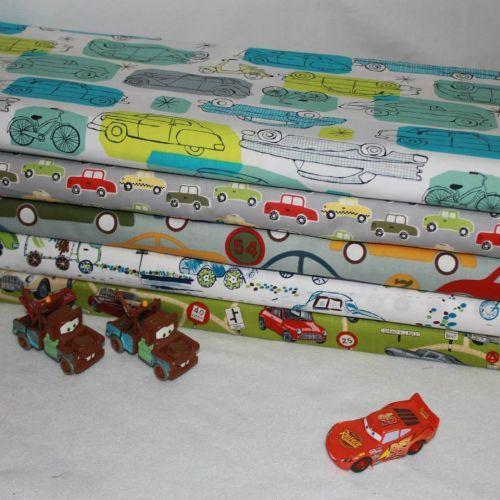 Kids cars novelty FQ Bundle Quilt Fabric Kids novelty FQ bundle quilt fabric featuring various cars s 100% Cotton FQ Bundle