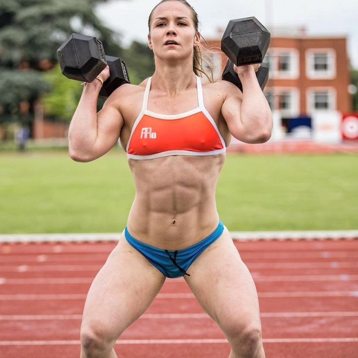 Jeanne Rossarie abs abdominals Dumbbells