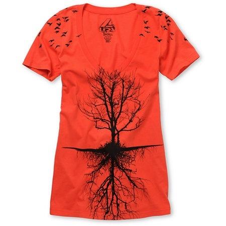 Tree Bright Red V-Neck Tee Shirt, Zumiez, $24.95 fashion: Tees Shirts, Vneck Tees, Favorite Tees, Girls Trees, Red Vneck, 24 95 Fashion, Bright Red, Trees Bright, Trees T Shirts