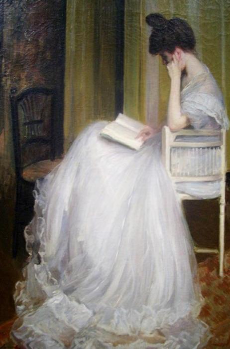 Woman Reading,c. 1890,Jacques-Émile Blanche (1861-1942)