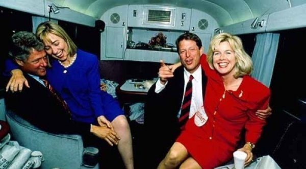 Bill Clinton and Al Gore Party with Unknown Floozies...    Tonight they're going to party like it's 1994.