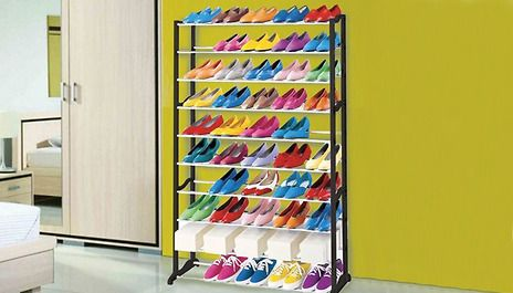 10 Tier Shoe Rack; save 82% and keep your footwear collection under control for £15.99