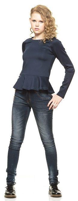 Ook op een stoere jeans doet dit gave peplum shirt van Grunt het goed!