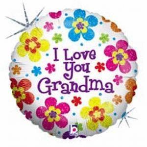 I Love Grandma Foil Balloon 18 Mothers Day Flowers Happy