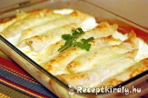 Palacsinta csirkés raguval töltve recept képpel. Elkészítés és hozzávalók leírása, 1 órás, 4 főre, Normál