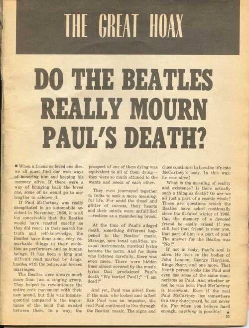 """so-disco: """" (via The Paul is Dead Hoax magazine Part 4) """""""