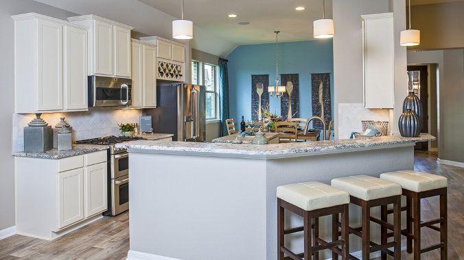 A stunning Taylor Morrison #kitchen at Crystal Falls Crystal Cove!