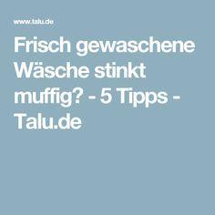 Frisch gewaschene Wäsche stinkt muffig? - 5 Tipps - Talu.de