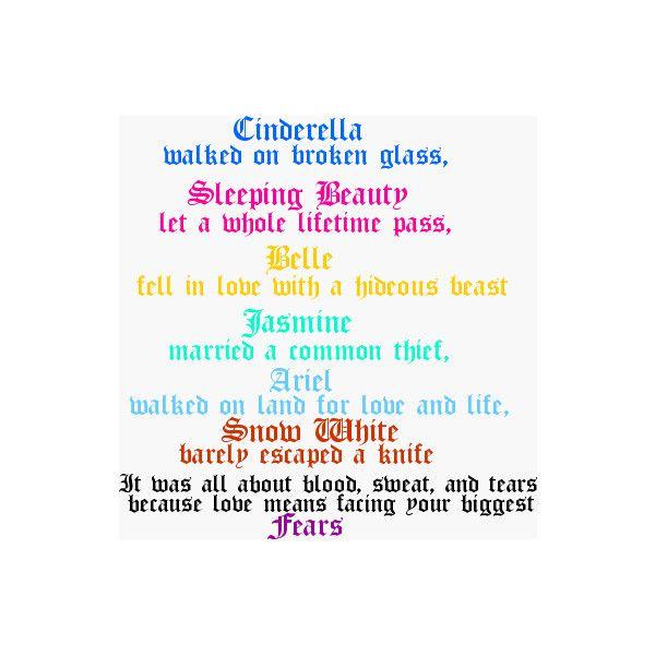 Disney Princess quote - Disney Photo (16035390) - Fanpop ❤ liked on Polyvore