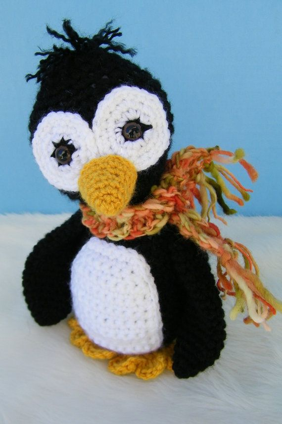 Crochet Pattern Penguin by Teri Crews instant download PDF format Crochet Toy Pattern