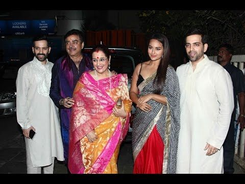 Actress Sonakshi Sinha with Family, Mother, Father, Brother