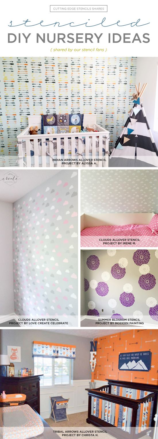 863 best from stencil stories images on pinterest wall cutting edge stencils shares diy stenciled nursery ideas featuring wall stencils on accent walls http amipublicfo Image collections