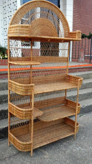 Vintage wicker backers rack.  Very sturdy.  $395