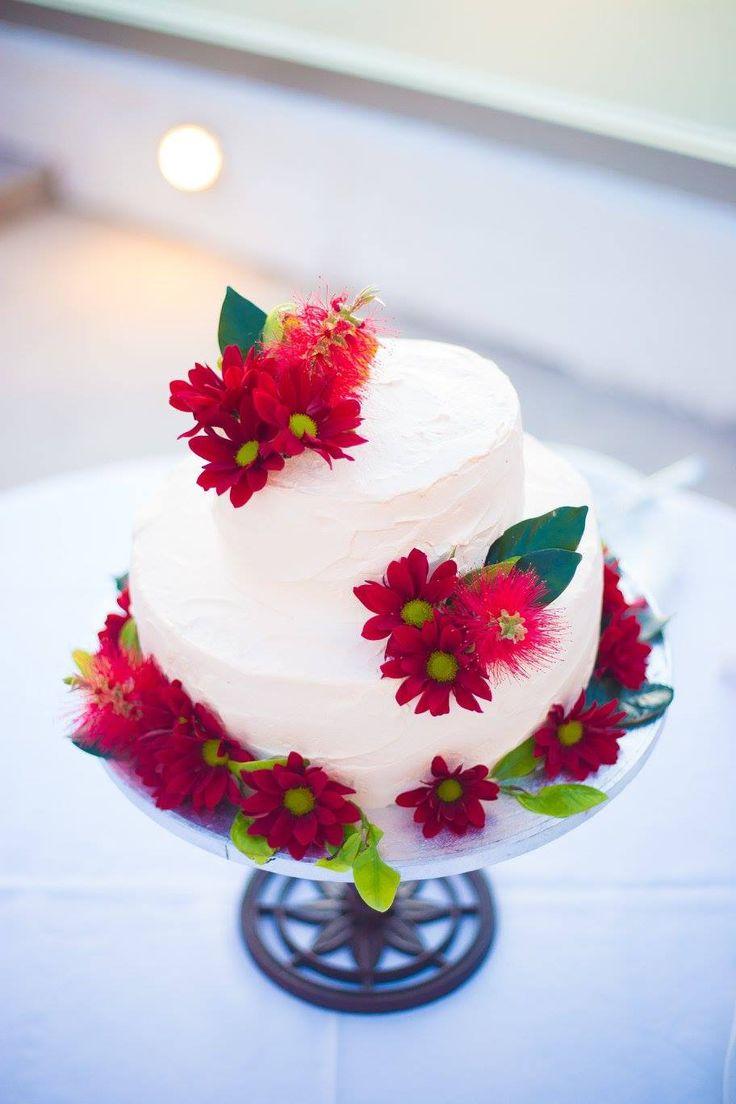 frosting cream wedding cake  with Marsala flowers, wedding in greece www.santoweddingsbymk.com